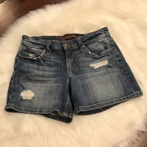 """Joe's Jeans Faded Ripped 4"""" Shorts Excellent SZ 25"""